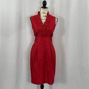 {Jessica H} Ruffle Sleeveless Cocktail Dress